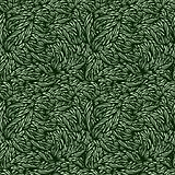 vector seamless green leaves texture