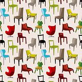 chair furniture seamless pattern