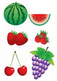 Set of berries