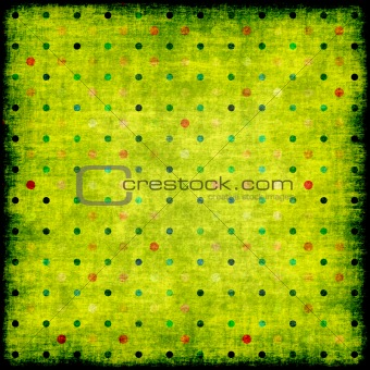 Old grunge background with dots