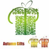 gift icon with leaf