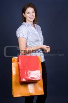 casual woman shopping