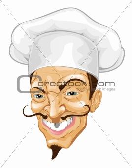 Cartoon chef illustration