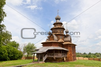 Churches of Russia. Old wooden church in Suzdal