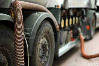 Fuel truck close up