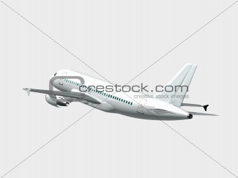 Airplane isolated