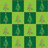 Christmas tree seamless squares