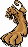 Cougar Mascot Body Prowling Graphic