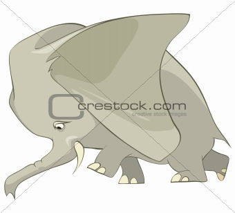 Cartoons_0030_Elephant_Vector