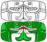 Aztec Goddess of Earth - vector