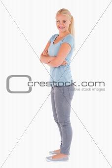 Cute woman posing