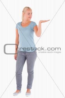 Charming woman posing