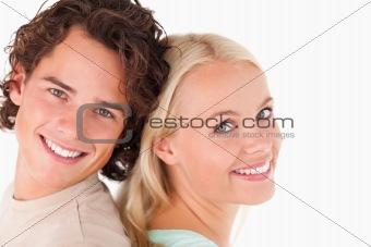 Charming cute couple posing
