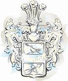 Vintage emblem in  Montenegro