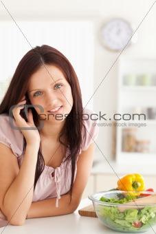 Cute woman using a cellphone