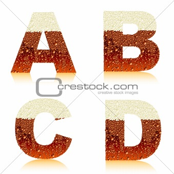 alphabet dark beer ABCD