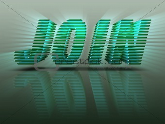Word Join 3D Green Letters