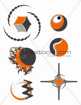 abstract logo symbols