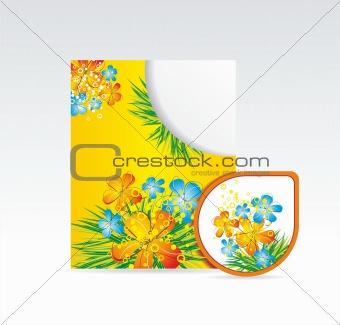 folder and sticker