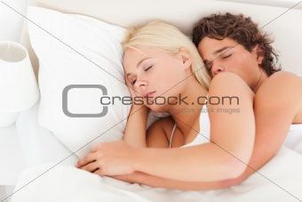 Beautiful couple sleeping