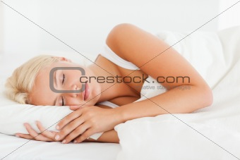 Calm woman sleeping
