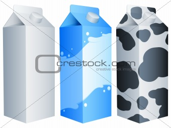 Milk packs.