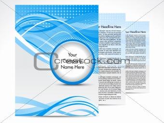 abstract blue brochure design