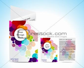 abstract colorful circular  brochure