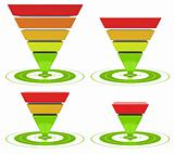 conversion funnel inverted pyramid