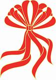 A red bow / ribbon