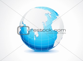 abstract blue globe