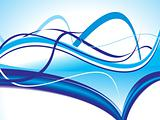 abstract blue vector wave background