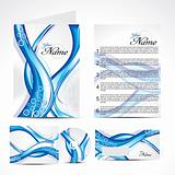 abstract blue wave brochure