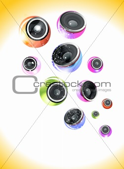 abstract colorful musical background with sound