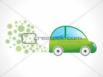 abstract eco car