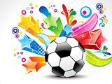 abstract football with colorful star