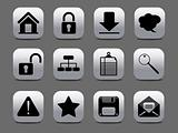 abstract gray & black web icon