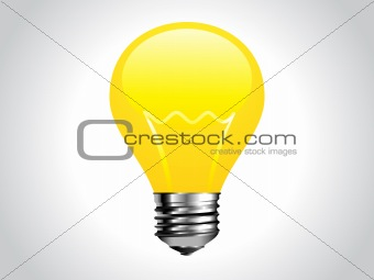 abstract shiny yellow bulb