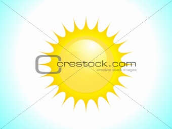 abstract vector sun