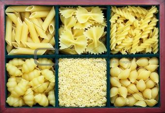Six types of pasta