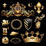 heraldic royal set