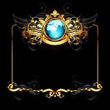 world with ornate frame