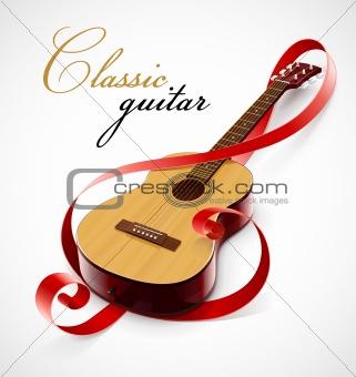 classic guitar as clef simbol