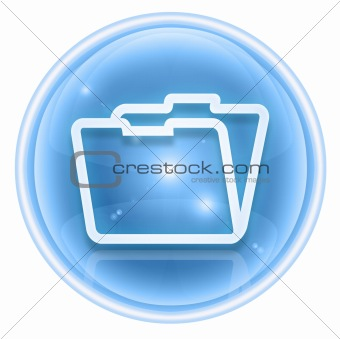 Folder icon ice, isolated on white background