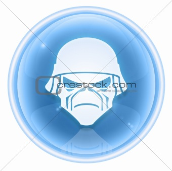 Army button ice, isolated on white background