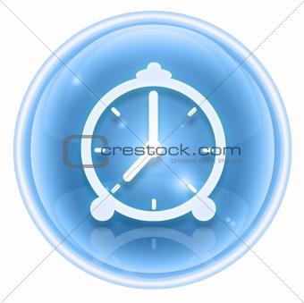 clock icon ice, isolated on white background