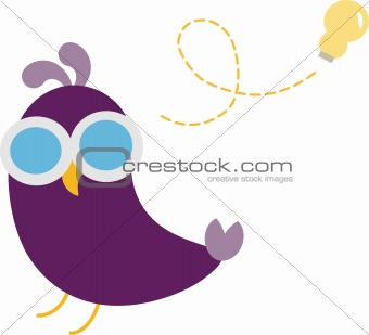Cue Bird Idea Vector