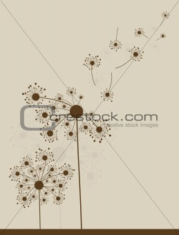 Àbstract dandelion background, vector