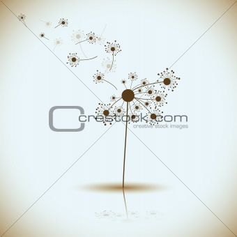 Abstract dandelion, vector