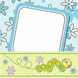 Template cards for the boy and girl, vector